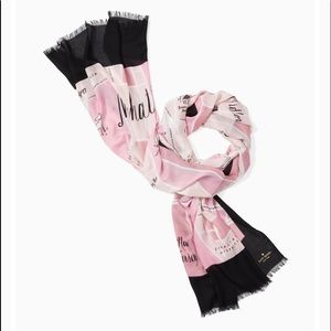 NWT!!! Kate Spade ♠️ manhattan map oblong scarf🧣